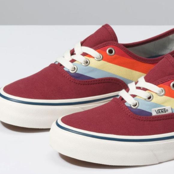Vans Shoes | Vans Rad Rainbow Authentic